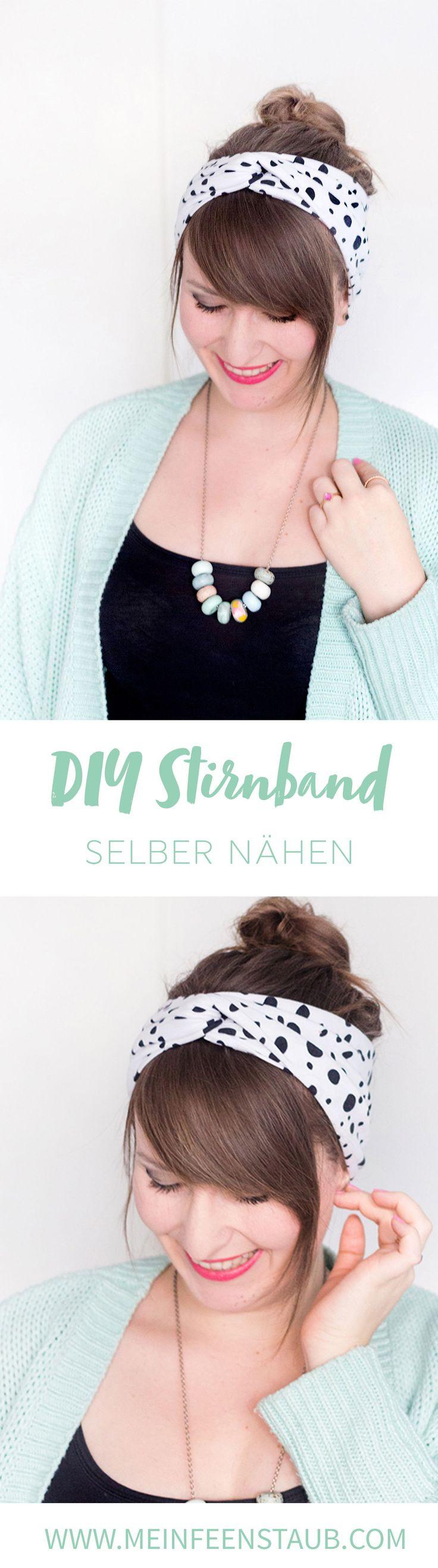 Kreative DIY-Idee zum Selbermachen: Einfaches Turban-Stirnband oder Turban-Haarband nähen - aus Jersey oder Sommersweat ganz einfach selbst genäht mit Step-by-Step-Anleitung