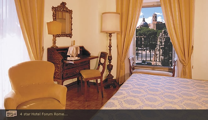 I would love to stay here for a couple of nights. The lobby is small but I love the rooftop restaurant. Hotel Forum Rome Roma - Official Website - Four Star Accommodation Colosseum