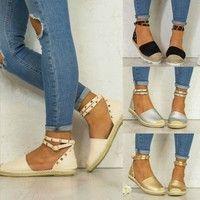 Wish | Women Casual Flats Shoes Rivet  Shoelace Anti-slip