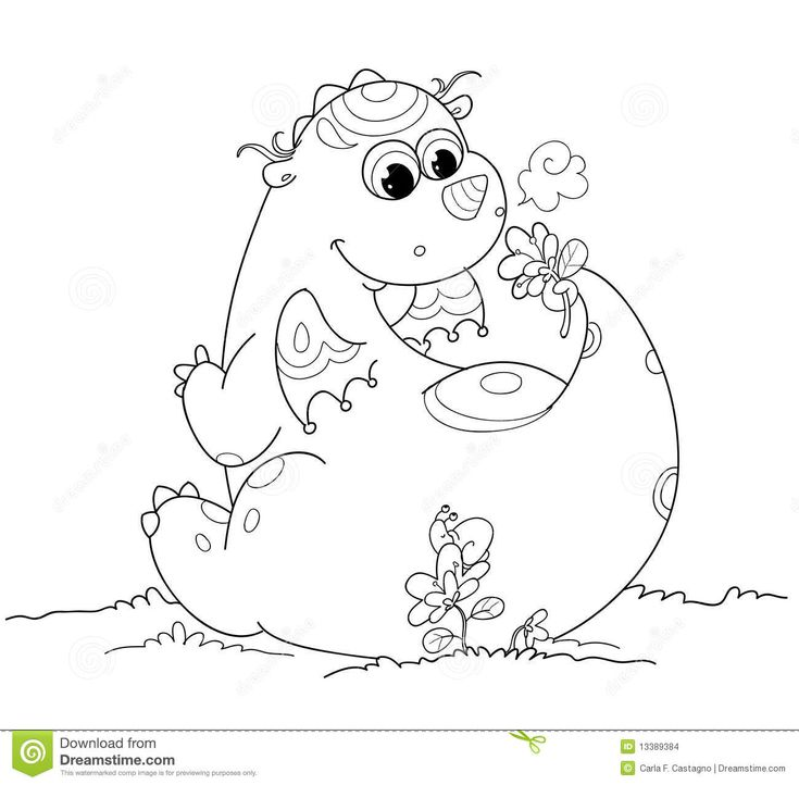 Cute Baby Dragon Colouring Pages Coloring Sheets Stock