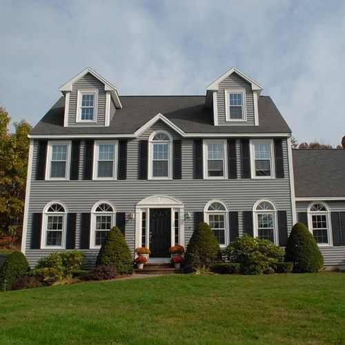 102 best exteriors images on pinterest for Updated colonial home exterior