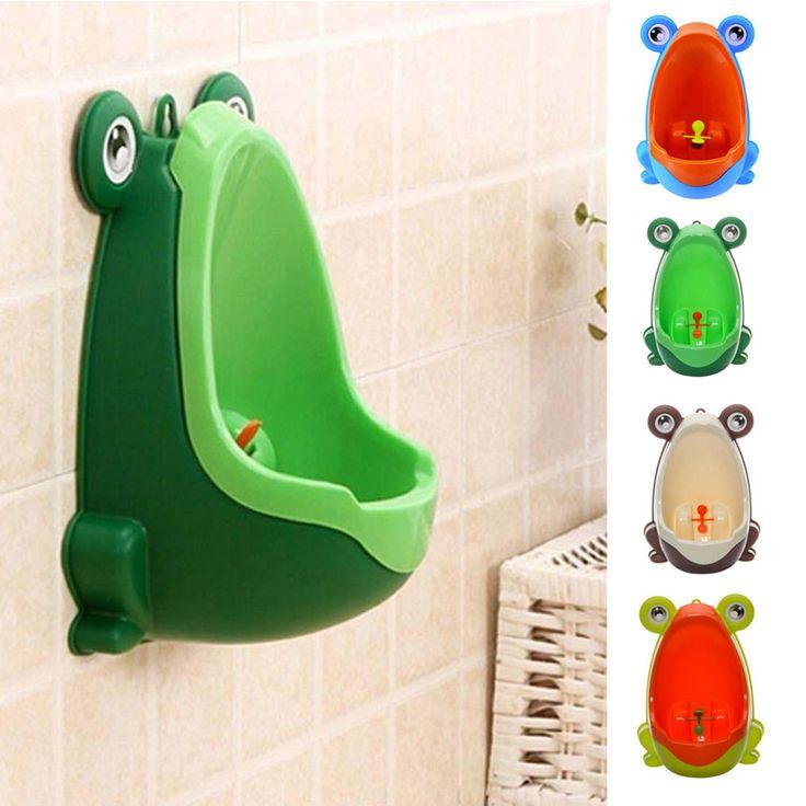 Новый 4 Цветов Лягушка Дети Незначительное Туалет Обучение Ребенка Писсуар Для Мальчик Ванная Комната Пи Тренер E2shopping купить на AliExpress