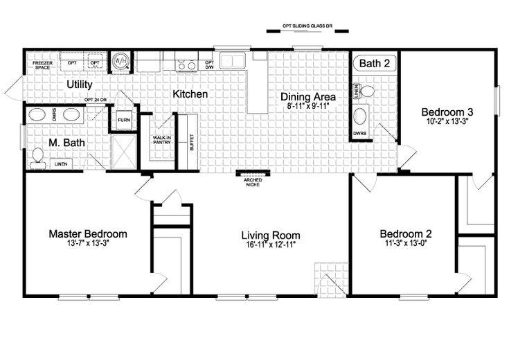 Fleetwood double wide floor plans inspirational the cortez