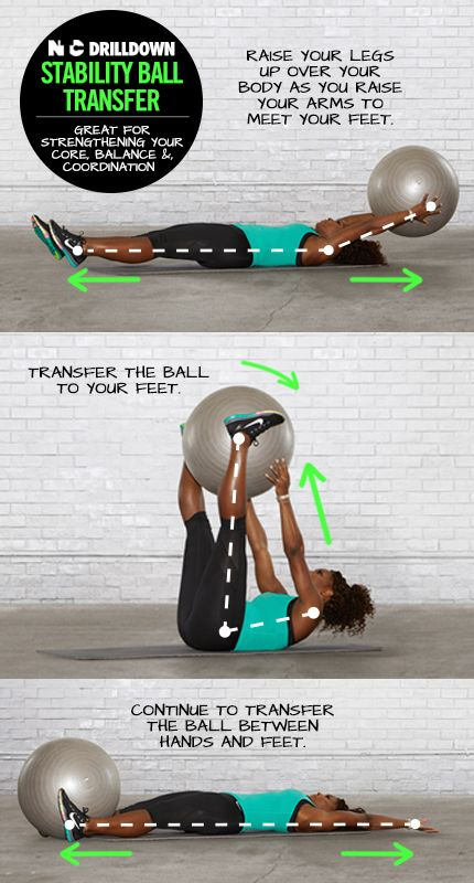 Define your abs with the Stability Ball Transfer. #NTC #training #drills