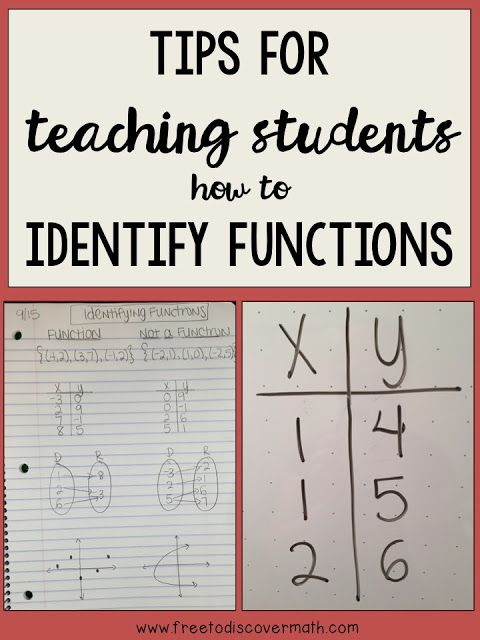 Tips for Teaching How to Identify Functions - In eighth grade, we learn about identifying functions pretty early in the year.  To help my students remember the rule I have a few tricks up my sleeve, and today I'm sharing them with you.  By Free to Discover.