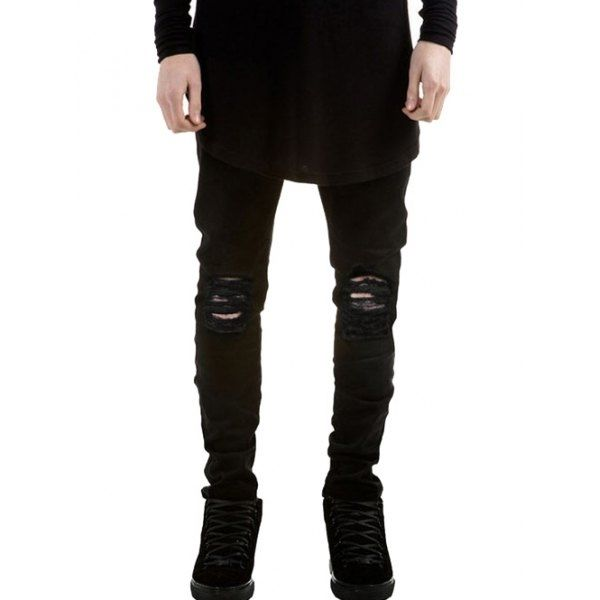 31.07$  Watch here - http://di40b.justgood.pw/go.php?t=201131303 - Skinny Fit Zip Fly Jeans with Knee Rips