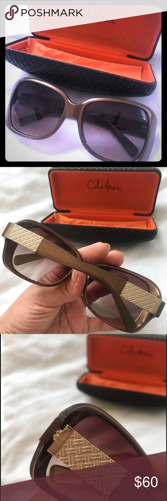 Marvelous Cole Haan oversized sunglasses