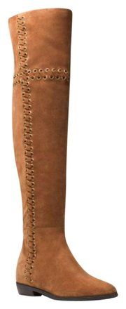 Michael Kors Brown Malin Caramel Suede Leather Tall Riding Boots/Booties Size US 6 Regular (M, B) - Tradesy