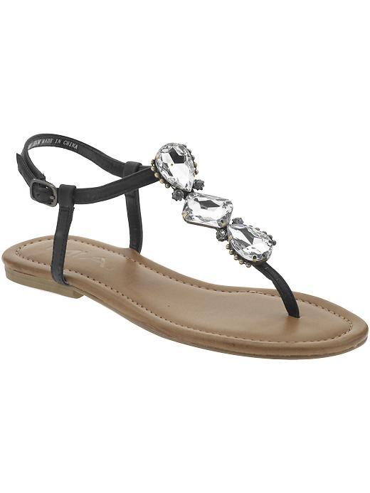Jeweled Flat Sandal ~ Jeweled Sandals