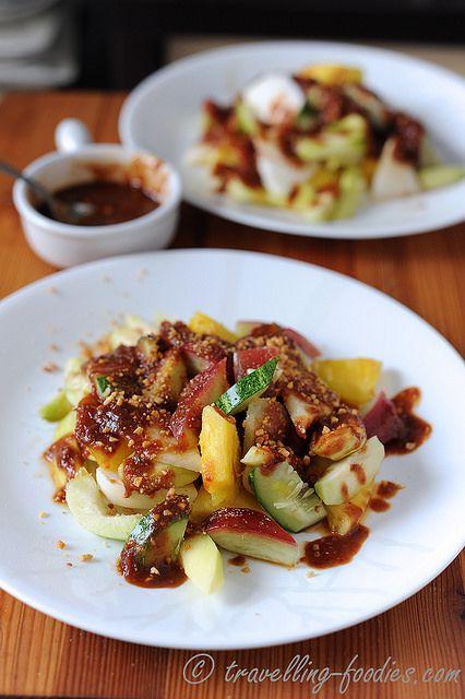 Rujak Kedondong Ulek Terasi - Spicy Indonesian Fruit Salad