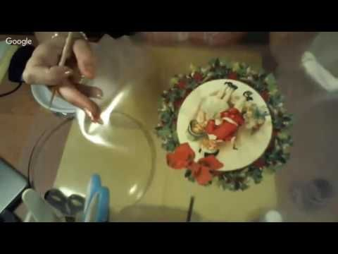 Юлия Валько Новогодняя тарелочка - YouTube