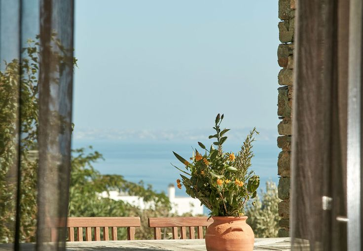 Morning view from your villa! The serenity of the Aegean Sea, the glimpses at the horizon just seconds before you enjoy your breakfast! The Greek island breakfast delights are at http://goo.gl/oMR0O4  #SummerInTinos #dilesrinies #GoGreece #greeksummer #summeriscoming #summer2016 #tinos