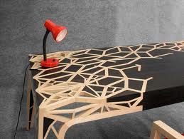 modern marquetry table