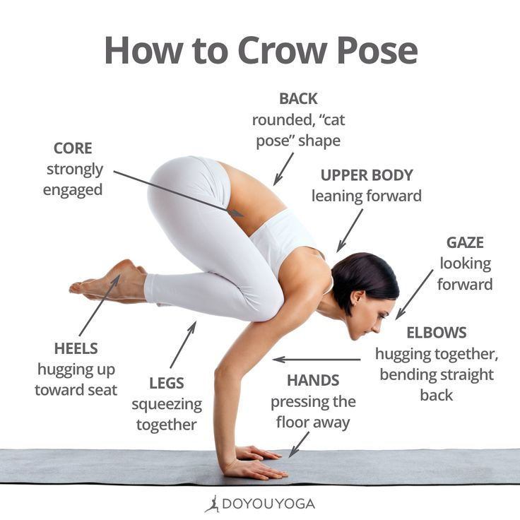 Your cheat sheet for flight!   Want more detailed deconstruction of crow pose and other arm balances?  Join Alex Crow for the FREE #ArmBalanceChallenge: http://doyouyoga.com/arm-balances