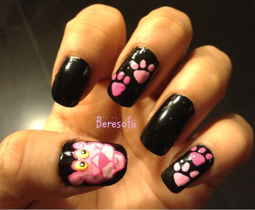 Pink Panther Nails