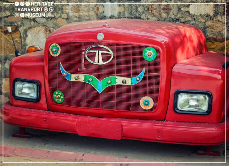 The front part of the Tata Motors truck is an apt representation of Transport Art. The art piece is used to adorn the outdoors of the museum!  #Art #TruckArt #Heritage #TransportMuseum #Museum #Manesar #ArtWork #VintageCollection #Outdoor #IncredibleIndia