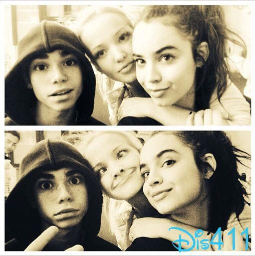 Sofia Carson With Dove Cameron and Cameron Boyce