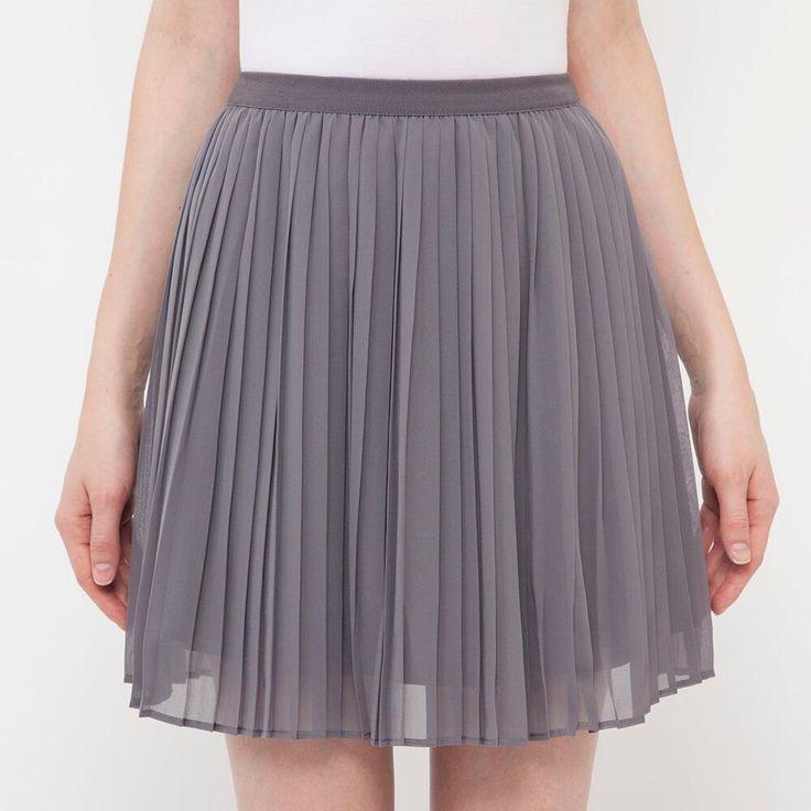 WOMEN Chiffon Pleated Mini Skirt
