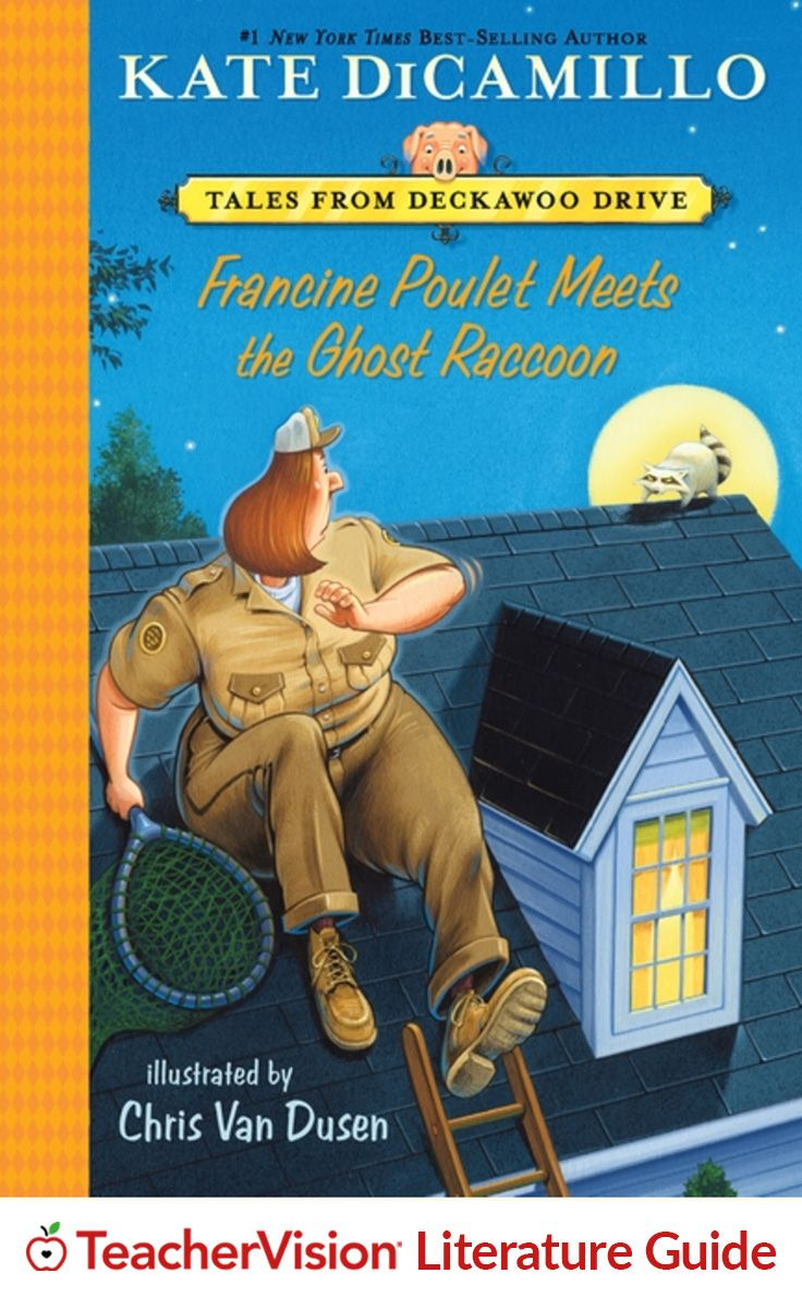Francine Poulet Meets the Ghost Raccoon Teaching Guide: Things are getting spooky on Deckawoo Drive! This teaching guide provides discussion questions and Common Core-aligned extension activities for reading, writing and ELA. (Grades 1-4)