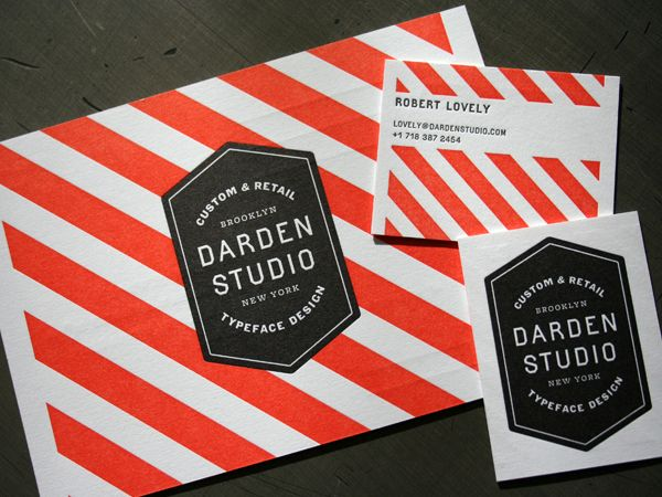 Darden Studio: Business Cards, Letter Pressed, Graphics Design, Identity Design, Graphics Projects, Stripes, Black Boxes, Darden Studios, Red Black