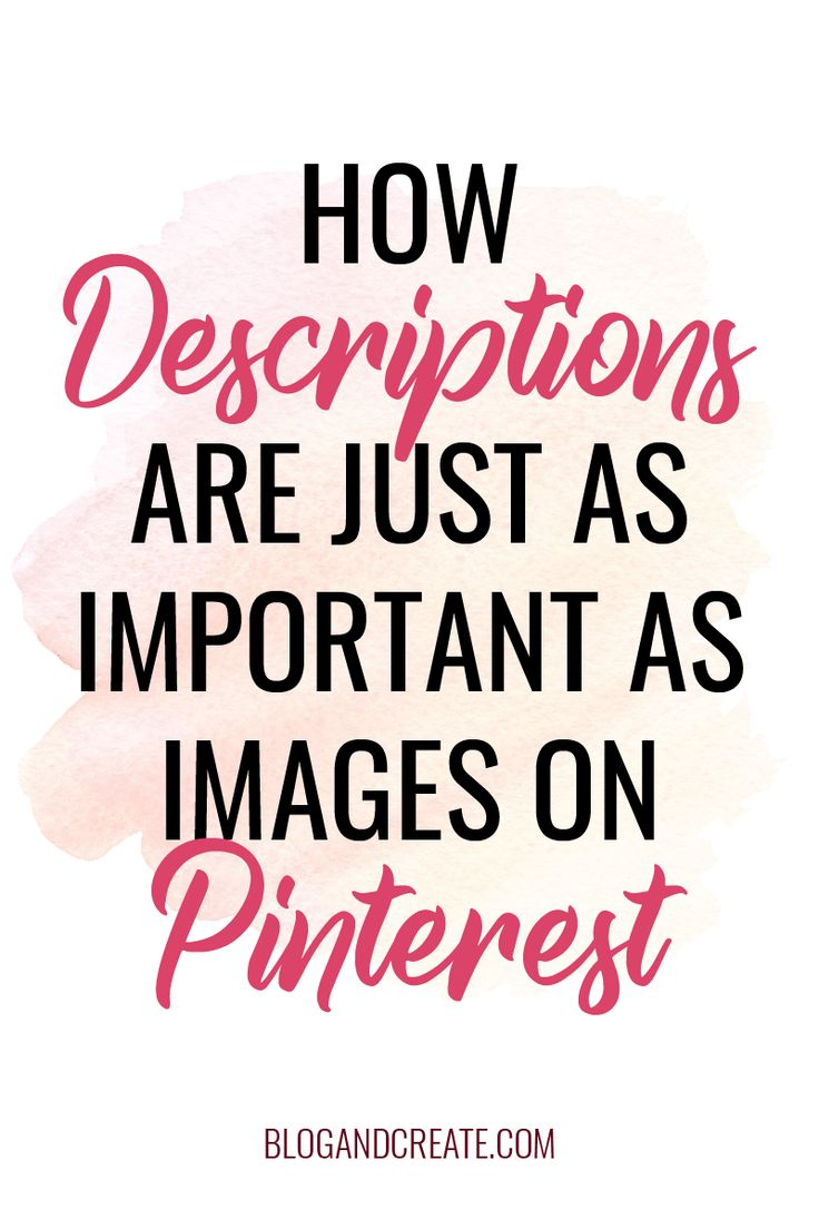 Pinterest SEO Tips for Beginners: How to use keywords in your Pinterest social media marketing strategy. Don't miss out on business or website traffic because your descriptions are slacking. #BlogAndCreate #PinterestTips #PinterestMarketing #BloggingTips