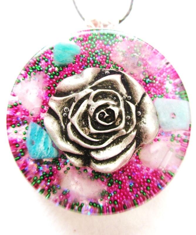 Rose Pendant-Check out full description at healingorgones.com