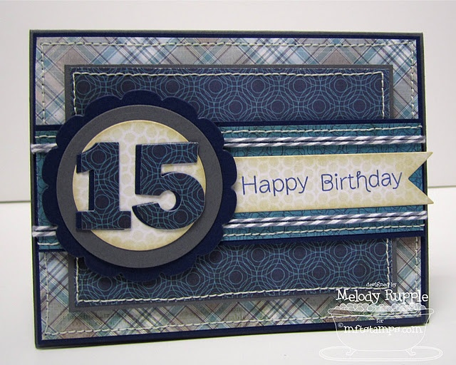 Teen Birthday Card with a masculine look  For a feminine look just change the colours
