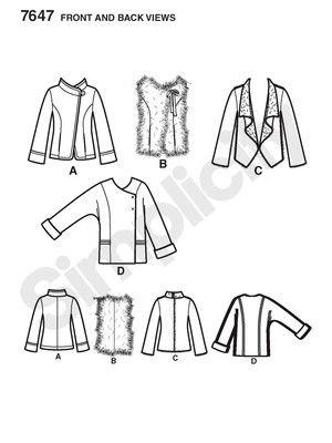 Schnittmuster: Jacke und Weste - Jacken und Mäntel - Damen - burda style