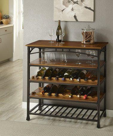 Look at this #zulilyfind! Distressed Oak Modern Craftsman Wine Rack #zulilyfinds