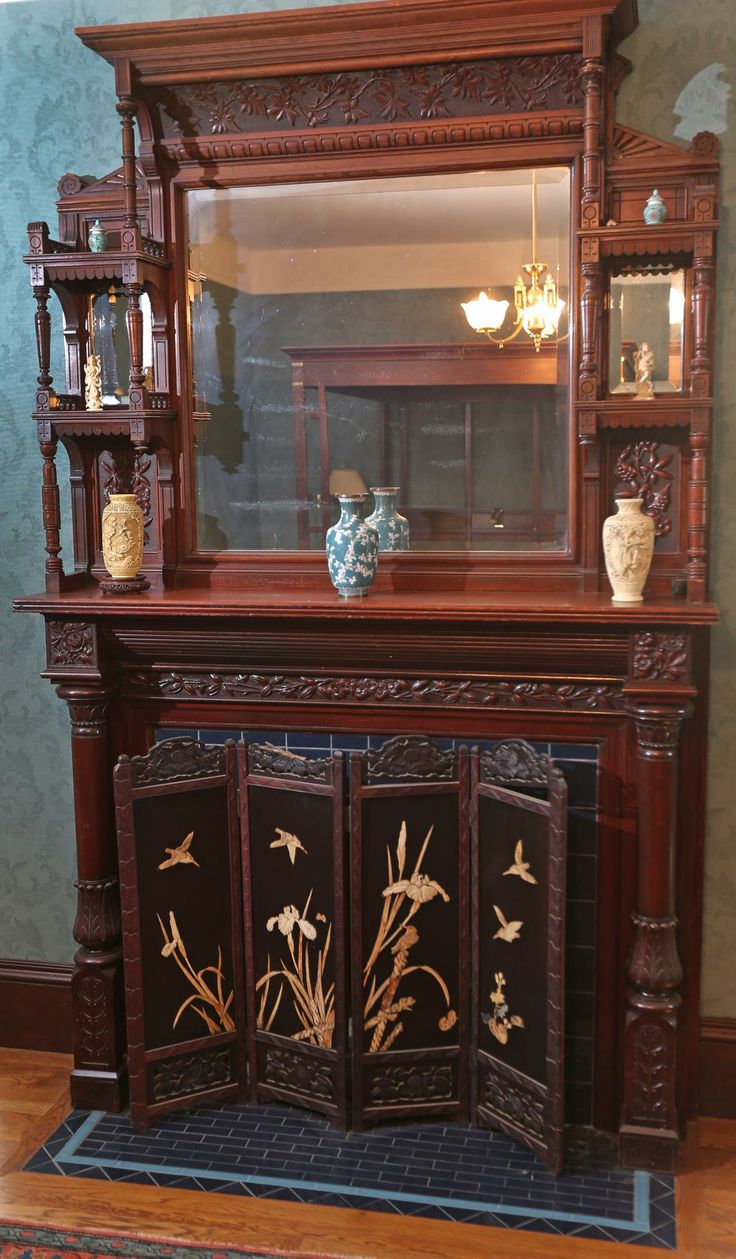 Fabulous carved fireplace in Boston. - 13 Best Victorian Wooden Mouldings Images On Pinterest Moldings