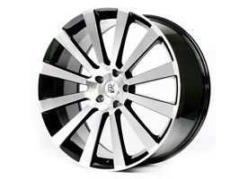 """BK Racing Flow Form BK660 20"""" Black and Polished VW T5"""