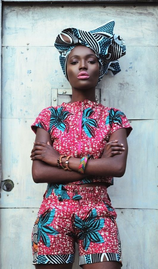 African fashion..I especially love it when I see it on a model with my skin colour.