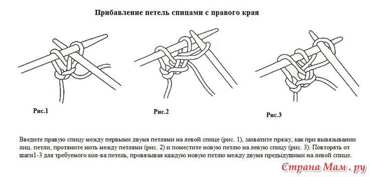 Pletenie  - Priberanie nových očiek