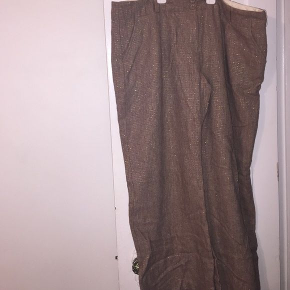 Metallic and tweed dress pants Perfect for the office tweed with metallic detail dress pants Old Navy Pants Wide Leg