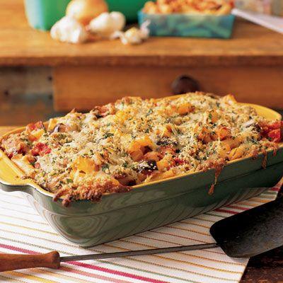 ABUT Dinner Sat? Eggplant Parmigiana Pasta Bake-vegetarian