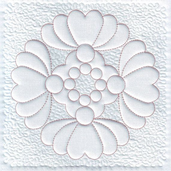 Heart Machine Embroidery Design, Quilt Block, Trapunto, Quilting, Digital Pattern, Instant ...