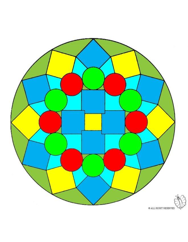 Disegno: Mandala colorato