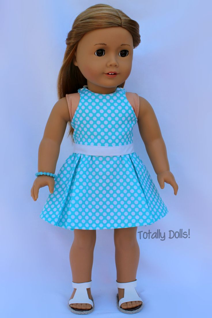 """Sunday Grace"" Top & Skirt with Shoes & Jewelry - $22.99 - American Girl Doll Clothes http://www.totallydolls.com/apps/webstore/products/show/5799138"