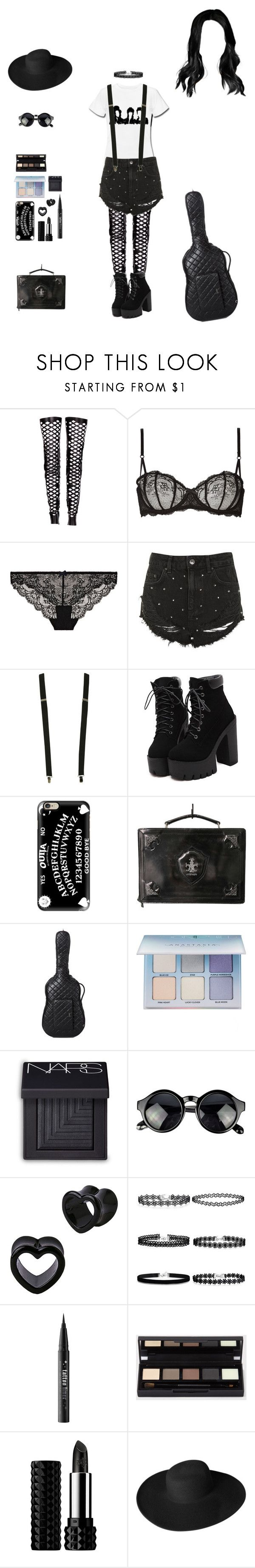 """""""Palaye Royale concert"""" by gloomystandall ❤ liked on Polyvore featuring Rodarte, Heidi Klum, Topshop, Wet Seal, Casetify, Chanel, Anastasia Beverly Hills, NARS Cosmetics, Kat Von D and Dorfman Pacific"""