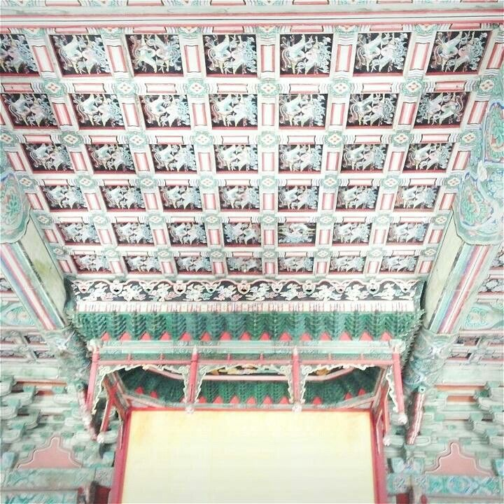 Changkyung palace ceiling, Seoul 창경궁