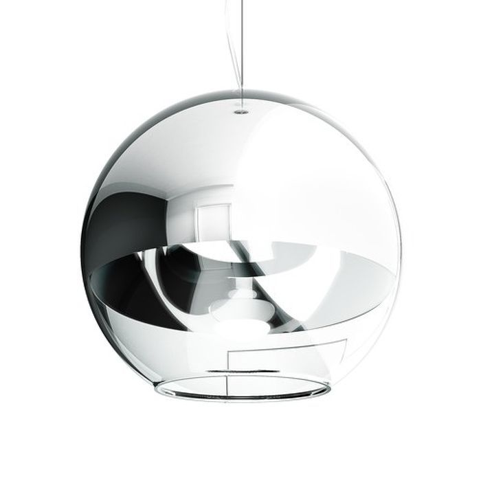 BEAU MONDE 35 pendant chrome-tinted glass/clear glass 230V E27 25W Our code 10516  Suspended light with a shade of hand-blown glass. The interesting appearance of the shade is achieved by a special method in which a thin layer of metal is applied to the glass. The bottom part of the shade is of clear glass. The light is fitted for a E27 low-energy bulb. Small bubbles on the shades surface are a result of the creation process and not a defect.   #rendl_lighting #lightdesign #interiordesign…