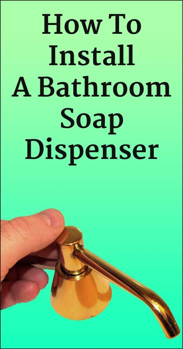 Do you have an ugly bottle of liquid soap sitting on your bathroom sink? The best, most attractive solution is to install a commercial-grade, built-in, liquid hand soap dispenser. via @HintsTips