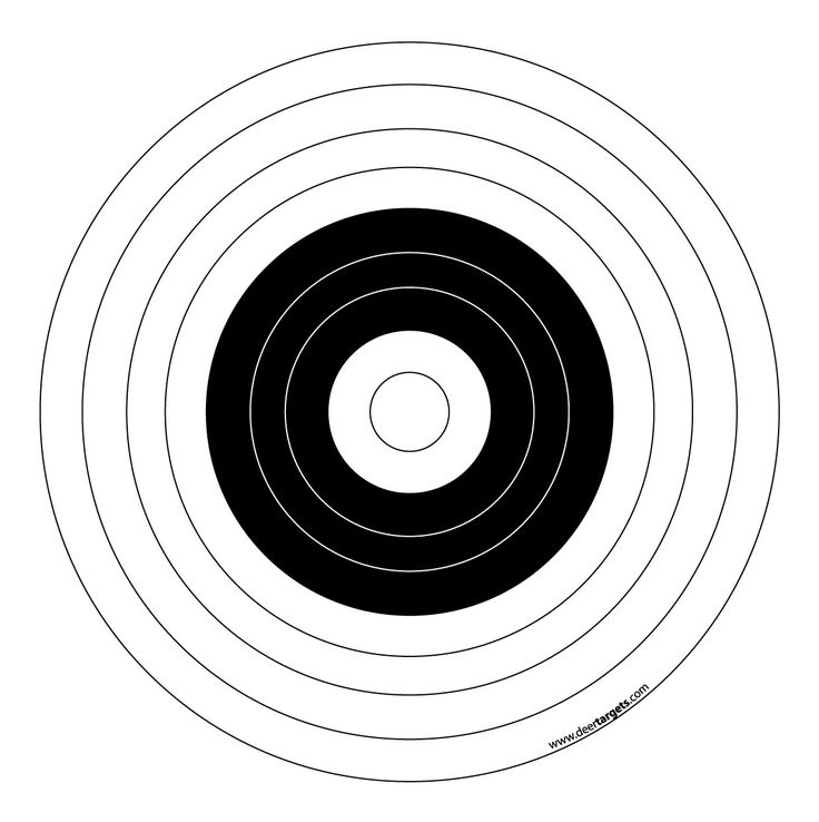 bullseye template printable - bow targets to print pictures to pin on pinterest pinsdaddy