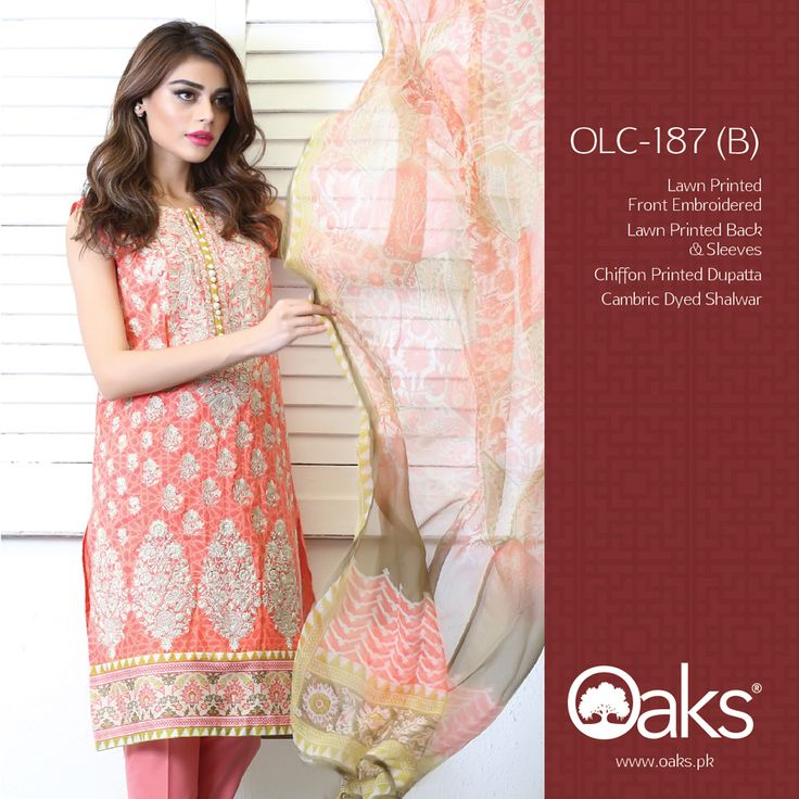 Lawn Suit with Chiffon Dupatta.  3 Piece: OLC-187 (A) | RS. 3,790 |   2 Piece: OLC2P-1206 (A) | RS. 3,390 |