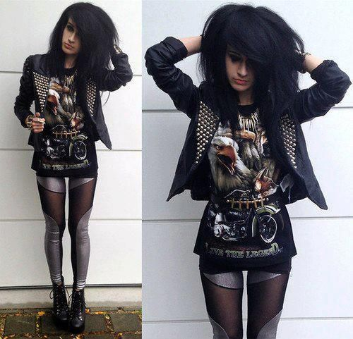 Rock A Gray Hat And Leather Jacket For Fall: 305 Best Images About Rock Chic Looks On Pinterest