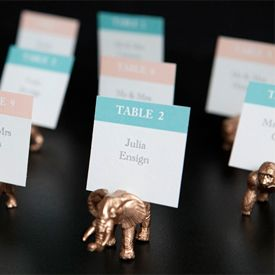 Make these darling GOLD animal place card holders in a snap! They make great favors too! Perfect for any eclectic party!