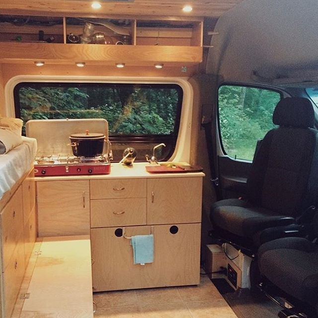 Sprintervandiaries With The Kitchen Living Room On Display Incredible Cheers Guys Camper Van ConversionsSprinter