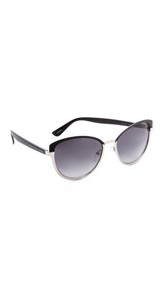 Marc by Marc Jacobs Двухцветные солнцезащитные очки «кошачий глаз»