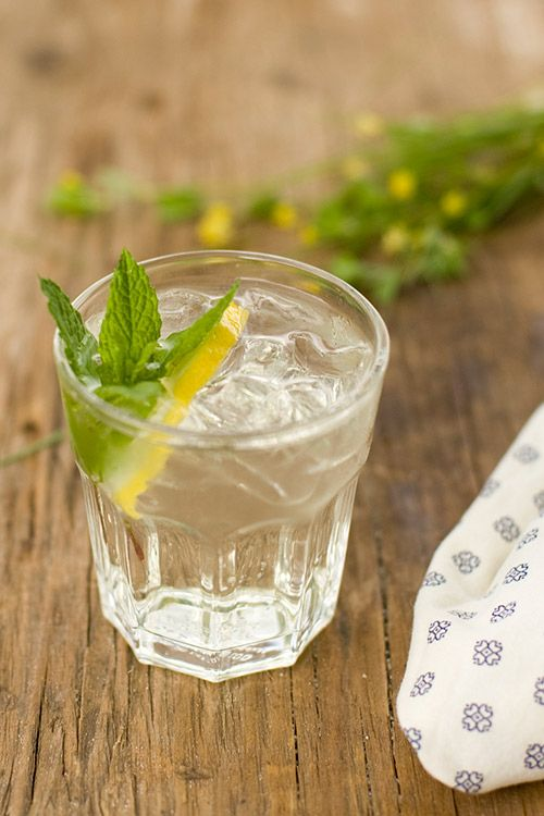 Summer Elderflower Drink    Ingredients    2 parts elderflower syrup (available at all IKEA stores and online at L'Epicerie)  2 parts club soda  1 lemon  1 bunch of mint  1 to 2 parts gin to taste (for an alcoholic version of the drink)