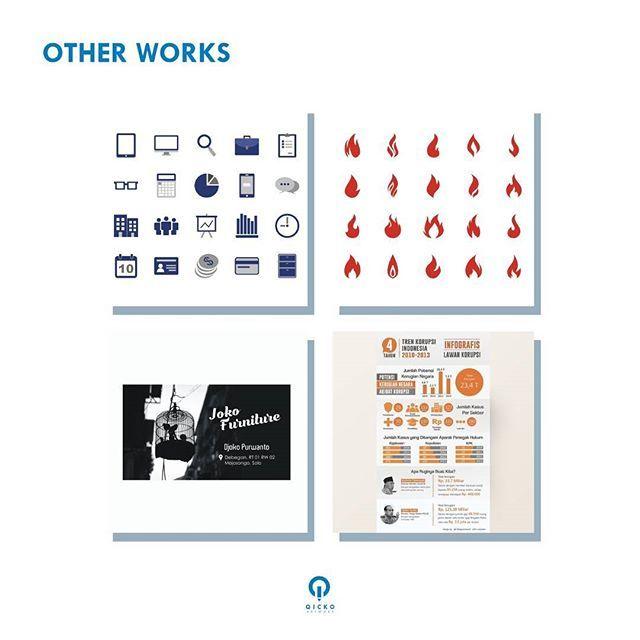 Kami juga mengerjakan jenis desain lainnya, seperti infografis, iklan, icon, template vektor, kartu nama, dll. Tertarik? Silakan hubungi kontak yang tertera 😄 ------- Open for commission project. Hit us at qickoartwork[at]gmail.com! 😃 #work #artwork #design #portfolio #graphicdesign #visual #infographic #icon #promo #template #vector #businesscards #qickoartwork
